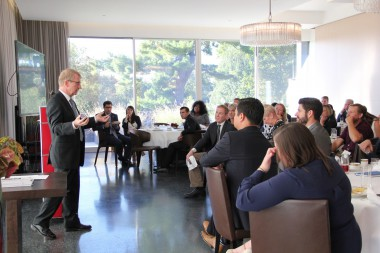 BizCARES delegation learns about the Swiss apprenticeship model at the Swiss Embassy in DC