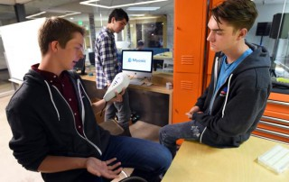 Boomtown creators Nick Titus and Sam Everett of Centaurus High School. Photo Source: Boulder Daily Camera