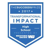transformantional impact in a high school award logo