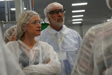 Colorado business delegation tours Schwan Cosmetics apprenticeship program