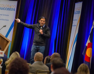 Jaime Casap, Google's chief education evangelist, speaks at Colorado Succeeds' annual Great Schools are Great Business luncheon.